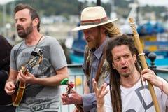 Διαμαρτυρία Buskers τραγουδιού Στοκ Φωτογραφία
