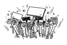 Διαμαρτυρία Doodle διανυσματική απεικόνιση