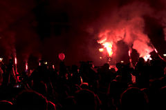 Διαμαρτυρία peopl στο ηφαιστειακό ` situacion ` Στοκ Εικόνες