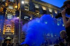 Διαμαρτυρία peopl στο ηφαιστειακό ` situacion ` Στοκ εικόνα με δικαίωμα ελεύθερης χρήσης