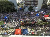 Διαμαρτυρία Sampaprev στοκ φωτογραφίες