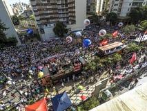 Διαμαρτυρία Sampaprev στοκ εικόνες