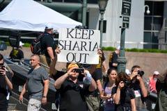 Διαμαρτυρία Sharia Στοκ εικόνα με δικαίωμα ελεύθερης χρήσης