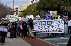 Διαμαρτυρία Tallahassee, Φλώριδα αντι-ατού Στοκ Εικόνα
