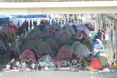 Διαμαρτυρίες για να διακόψει τη Μπανγκόκ Στοκ Φωτογραφία