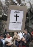 Διαμαρτυρίες ενάντια στη οικονομική κρίση Στοκ φωτογραφία με δικαίωμα ελεύθερης χρήσης