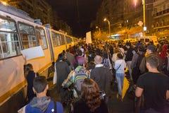 Διαμαρτυρίες ενάντια στη χρυσή εξαγωγή κυανιδίου σε Rosia Μοντάνα στοκ εικόνες με δικαίωμα ελεύθερης χρήσης