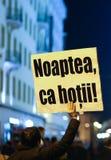 Διαμαρτυρίες ενάντια στο νόμο κυβερνητικής αμνηστίας στη Ρουμανία στοκ εικόνες