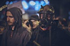Διαμαρτυρίες ενάντια στο ορυχείο χρυσού Rosia Μοντάνα, Βουκουρέστι, Ρουμανία Στοκ εικόνα με δικαίωμα ελεύθερης χρήσης