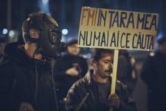 Διαμαρτυρίες ενάντια στο ορυχείο χρυσού Rosia Μοντάνα, Βουκουρέστι, Ρουμανία Στοκ Φωτογραφίες