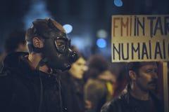 Διαμαρτυρίες ενάντια στο ορυχείο χρυσού Rosia Μοντάνα, Βουκουρέστι, Ρουμανία Στοκ φωτογραφίες με δικαίωμα ελεύθερης χρήσης