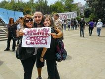 Διαμαρτυρίες και γεγονότα πάρκων Gezi Taksim Στη φωτογραφία, ταξίδι Taksim Στοκ εικόνες με δικαίωμα ελεύθερης χρήσης