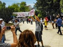 Διαμαρτυρίες και γεγονότα πάρκων Gezi Taksim Στη φωτογραφία, ταξίδι Taksim Στοκ Φωτογραφίες