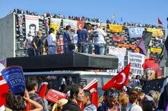 Διαμαρτυρίες και γεγονότα πάρκων Gezi Taksim Τετραγωνική εμφάνιση Taksim Στοκ εικόνα με δικαίωμα ελεύθερης χρήσης