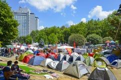 Διαμαρτυρίες και γεγονότα πάρκων Gezi Taksim Στοκ Εικόνες
