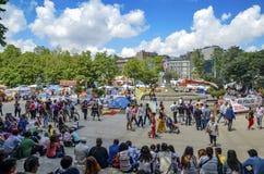 Διαμαρτυρίες και γεγονότα πάρκων Gezi Taksim Στοκ Φωτογραφίες