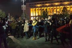 24 01 2018-διαμαρτυρίες στη Ρουμανία Στοκ εικόνες με δικαίωμα ελεύθερης χρήσης