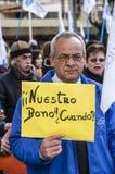 Διαμαρτυρίες στη Χιλή Στοκ Εικόνα