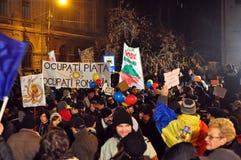Διαμαρτυρίες του Βουκουρεστι'ου - 19 Ιανουαρίου 2012 - 26 Στοκ φωτογραφία με δικαίωμα ελεύθερης χρήσης