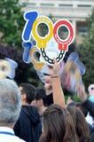 Διαμαρτυρόμενοι έξω από τα ρουμανικά κυβερνητικά κτήρια Στοκ φωτογραφίες με δικαίωμα ελεύθερης χρήσης