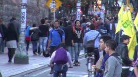 Διαμαρτυρόμενοι, διαμαρτυρία, αντι κυβέρνηση απόθεμα βίντεο