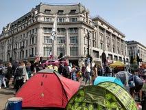Διαμαρτυρόμενοι κλίματος τσίρκων της Οξφόρδης στοκ φωτογραφία με δικαίωμα ελεύθερης χρήσης