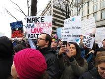 Διαμαρτυρόμενοι στην προεδρική εναρκτήρια παρέλαση Στοκ Φωτογραφίες