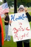 διαμαρτυρόμενοι υγείας Στοκ Φωτογραφία