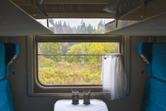 Διαμερίσματα μέσα στο τραίνο βαγονιών εμπορευμάτων Στοκ Εικόνα