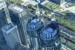 Διαμερίσματα Πεκίνο Κίνα πύργων γραφείων εικονικής παράστασης πόλης περιοχής Guomao Στοκ φωτογραφία με δικαίωμα ελεύθερης χρήσης
