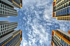 Διαμερίσματα πολυόροφων κτιρίων Στοκ Εικόνα