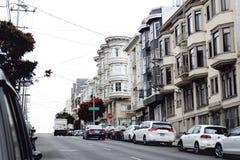 Διαμερίσματα στο Σαν Φρανσίσκο Στοκ Εικόνες