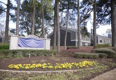 Διαμερίσματα Greenbrook στη σκηνή αγροτικών διαμερισμάτων της Shelby, Μέμφιδα, TN Στοκ φωτογραφίες με δικαίωμα ελεύθερης χρήσης