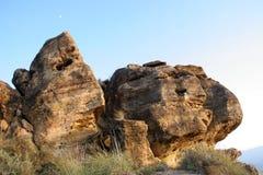 Διαμορφωμένα βράχοι moais Στοκ φωτογραφία με δικαίωμα ελεύθερης χρήσης