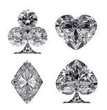 Διαμορφωμένα διαμάντι κοστούμια καρτών που απομονώνονται Στοκ εικόνα με δικαίωμα ελεύθερης χρήσης