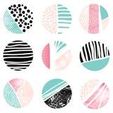 Διαμορφωμένα και κατασκευασμένα κυκλικά σχέδια Στοκ Εικόνα