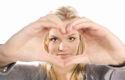 Διαμορφωμένα καρδιά χέρια Στοκ φωτογραφία με δικαίωμα ελεύθερης χρήσης