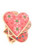 Διαμορφωμένα καρδιά μπισκότα Στοκ Εικόνες