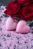 Διαμορφωμένα καρδιά σαπούνια λουτρών Στοκ φωτογραφίες με δικαίωμα ελεύθερης χρήσης