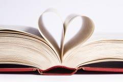 Διαμορφωμένες καρδιά σελίδες Στοκ φωτογραφία με δικαίωμα ελεύθερης χρήσης