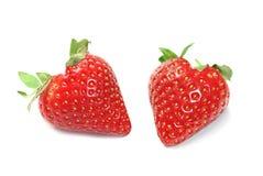 διαμορφωμένες καρδιά φράουλες στοκ εικόνα με δικαίωμα ελεύθερης χρήσης