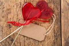 Διαμορφωμένες καρδιά καραμέλες Στοκ Φωτογραφίες