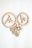 Διαμορφωμένες καρδιά ρόδες Στοκ Φωτογραφία