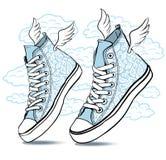 Διαμορφωμένες πάνινα παπούτσια δαντέλλες ελεύθερη απεικόνιση δικαιώματος