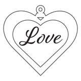 Διαμορφωμένη αγάπη διακόσμηση απεικόνιση αποθεμάτων