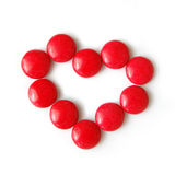 Διαμορφωμένη καραμέλα καρδιά στοκ εικόνα με δικαίωμα ελεύθερης χρήσης