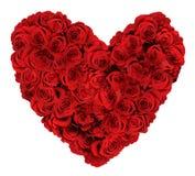 Διαμορφωμένη καρδιά ανθοδέσμη των τριαντάφυλλων Στοκ Εικόνες
