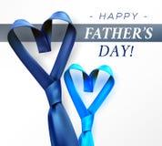 Διαμορφωμένη καρδιά γραβάτα ημέρας πατέρων Στοκ εικόνες με δικαίωμα ελεύθερης χρήσης