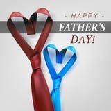 Διαμορφωμένη καρδιά γραβάτα ημέρας πατέρων Στοκ Εικόνες