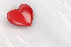 Διαμορφωμένη καρδιά διακόσμηση Χριστουγέννων Διανυσματική απεικόνιση